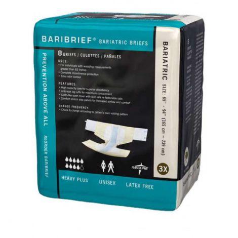 Medline Bariatric Briefs, Maximum Absorbency