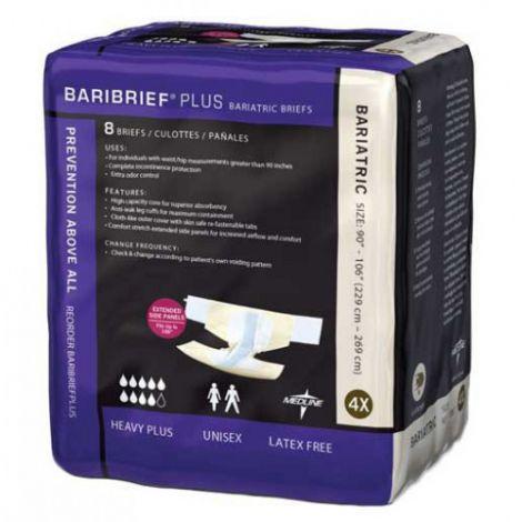 Medline Baribrief Plus Bariatric Briefs - Maximum Absorbency BARIBRIEFPLUS