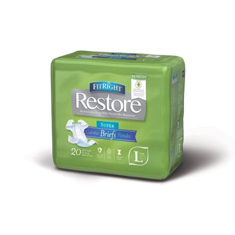 Medline FitRight Restore Ultra Briefs with Tabs Heavy Absorbency