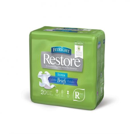 FitRight Restore Super Briefs with Tabs, Maximum Absorbency