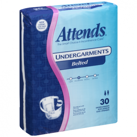 Attends Non-Adjustable Belted Undergarments Moderate Absorbency BU0600