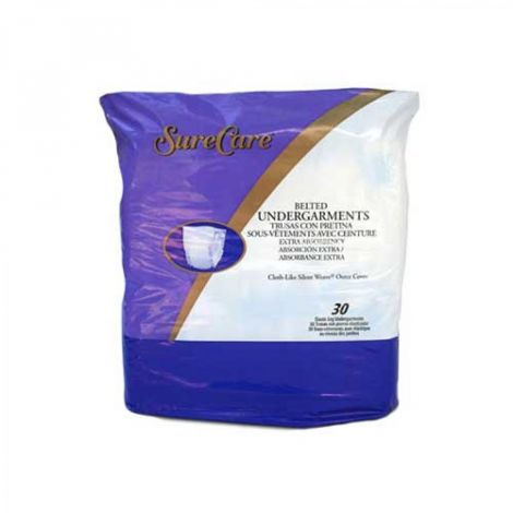 Sure Care Non-Adjustable Belted Undergarments Moderate Absorbency 1528