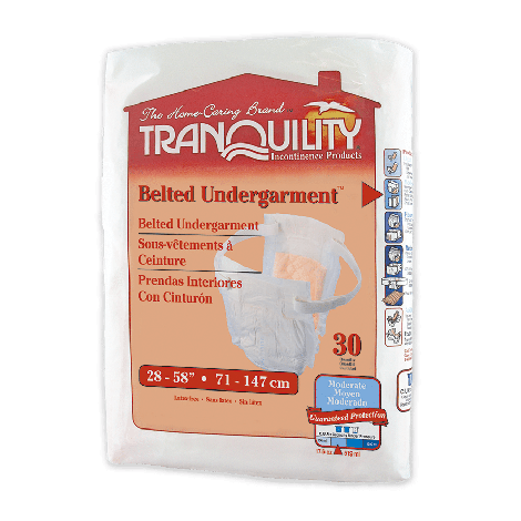 Tranquility Adjustable Belted Undergarment Moderate Absorbency 2650