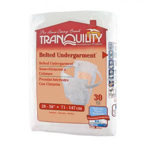 Tranquility Slimline Adjustable Belted Undergarment Moderate Absorbency 2150A