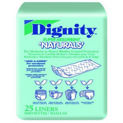 Dignity Super Absorbent Naturals Incontinence Booster Pads