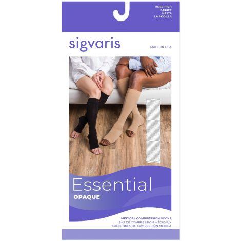Sigvaris Men's Essential Opaque Calf Open-Toe Plus 30-40 mmHg 863COLM