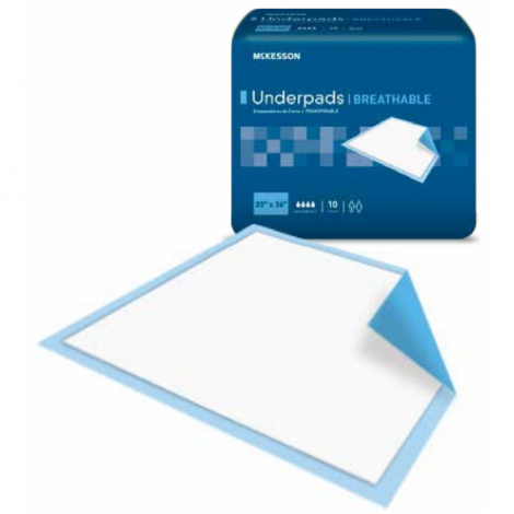 McKesson Underpads Breathable Ultra Absorbency UPHV2336