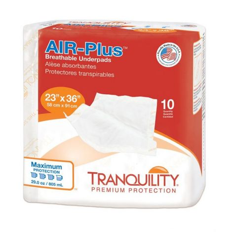 Tranquility AIR Plus Underpad, Maximum Absorbency
