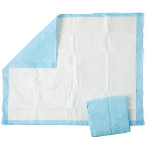 Medline Ultra Breathable Protection Plus Underpads, Polymer Super Absorbency Pad MSC282120