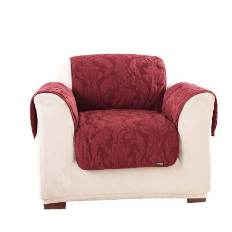 Sure Fit Matelasse Damask Chair Furniture Cover