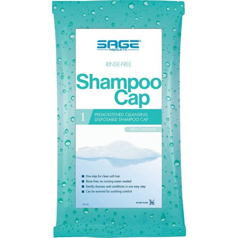 Sage Products Comfort Bath Rinse Free Shampoo and Conditioner Cap 7909