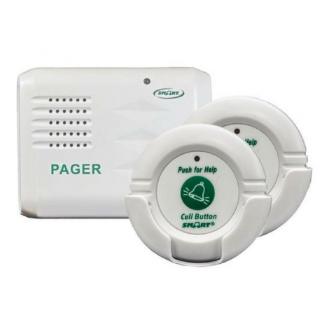 Smart Caregiver Pager - Two Call Buttons & Wireless Paging System TL5102TP