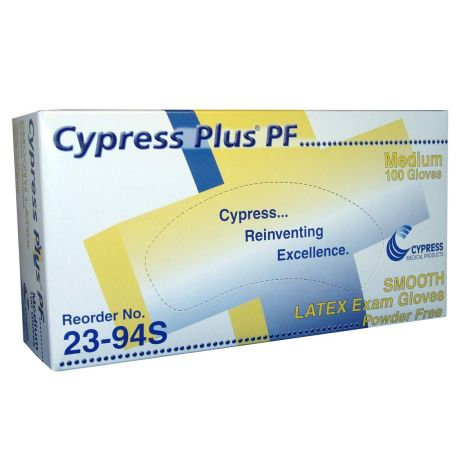 Cypress Plus Latex Exam Gloves Powder Free - NonSterile 23-90