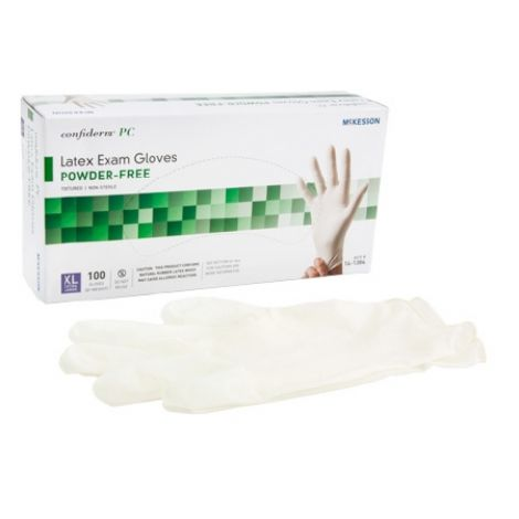 McKesson Confiderm PC Latex Exam Gloves Powder Free - NonSterile 14-1380