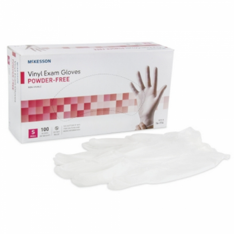 Mckesson Clear Vinyl Smooth Exam Gloves Powder Free - NonSterile 14-116