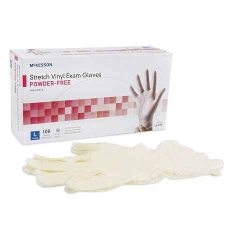 McKesson Stretch Powder Free Vinyl Exam Gloves - NonSterile 14-814