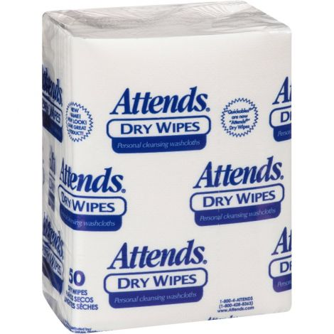 Attends Healthcare Products Dry Wipes - Unscented