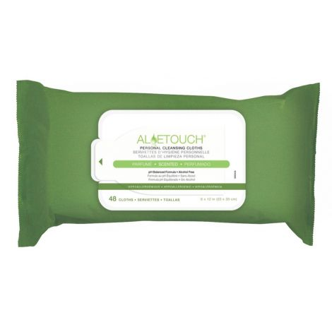 Medline AloeTouch Lightweight Personal Cleansing Cloth Wipes