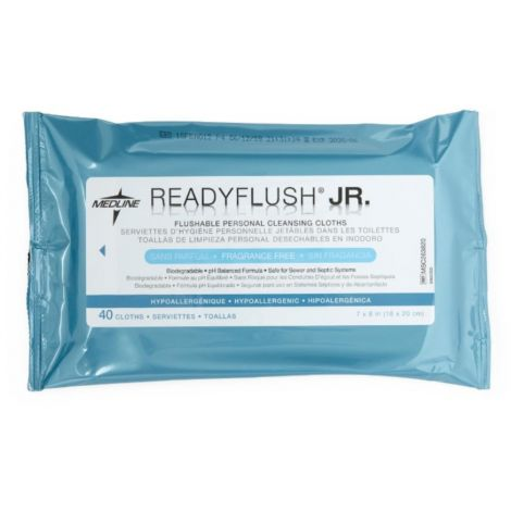 Medline ReadyFlush Jr Personal Cleansing Flushable Cloths MSC263820H