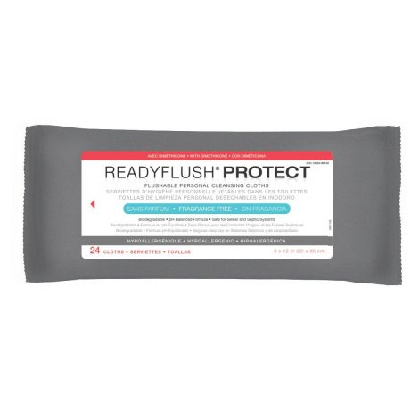 MedLine ReadyFlush PROTECT Flushable Personal Cleansing Cloths with Dimethicone MSC263811H