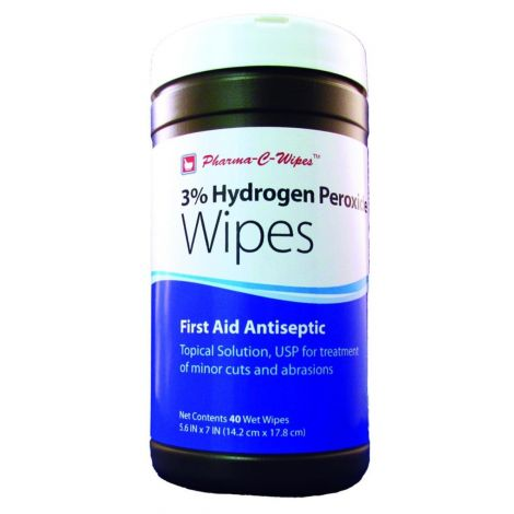 Pharma C Wipes 3% Hydrogen Peroxide Wipes