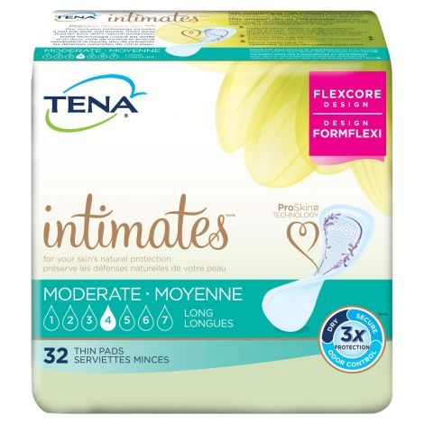 TENA Intimates Moderate Thin Insert Pads Long