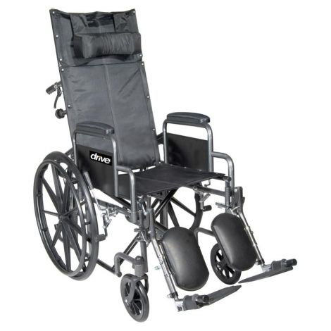 Drive Medical Silver Sport Reclining Manual Wheelchair