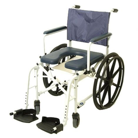"Invacare Mariner Rehab Shower Commode Chair - 24"" Wheels"