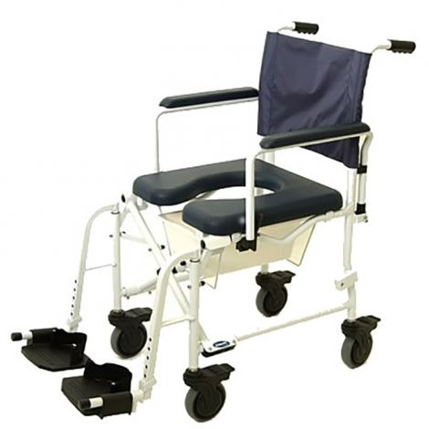 "Invacare Mariner Rehab Shower Commode Chair- 5"" Wheels"