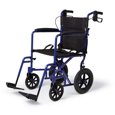 "Medline Deluxe with 12"" Rear Wheels Manual Wheelchair"