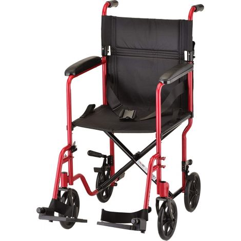 "Nova 19"" Steel Transport Manual Wheelchair"