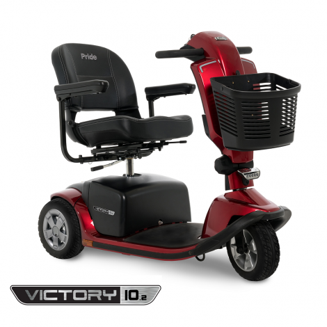 S6102 Pride Victory® 10.2 3-Wheel Mobility Scooter