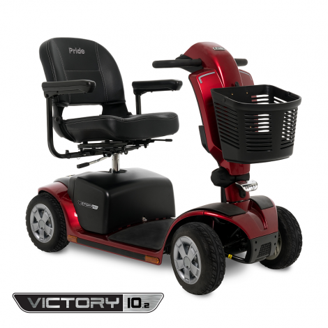 S7102 Pride Victory® 10.2 4-Wheel Mobility Scooter