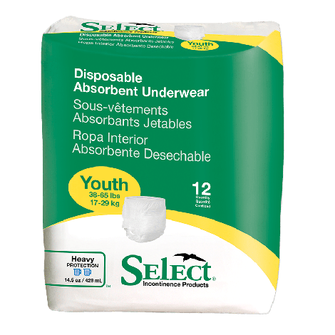 Select Youth Disposable Absorbent Underwear 2602