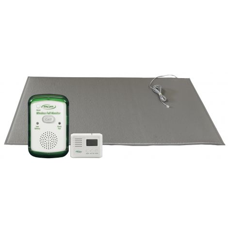 Smart Caregiver Wireless Fall Prevention Monitor with Floor Mat (gray) and LCD Pager WMFM-SYS