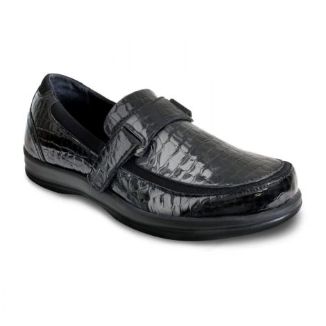 Apex Women's Petals Evelyn Black Croc Shoes A205W