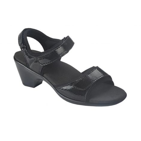 Orthofeet Camille Black Sandals 131