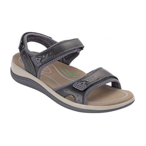 Orthofeet Malibu Black Sandals 961