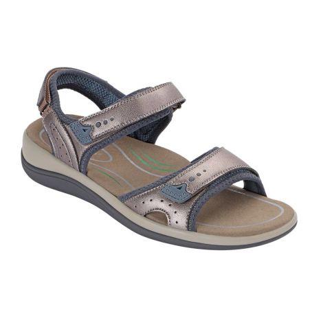 Orthofeet Malibu Pewter Sandals 967