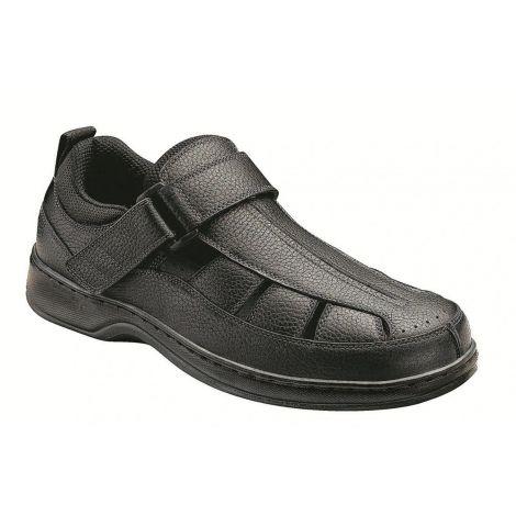 Orthofeet Melbourne Black Orthotic Sandal 571