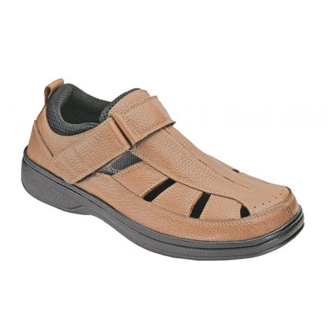 Orthofeet Melbourne Brown Orthotic Sandal 572
